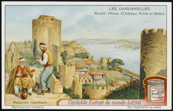 Dardanelles: Rumili Hissar (Chateau Kilid- ul-Bahr) with travelling musicians