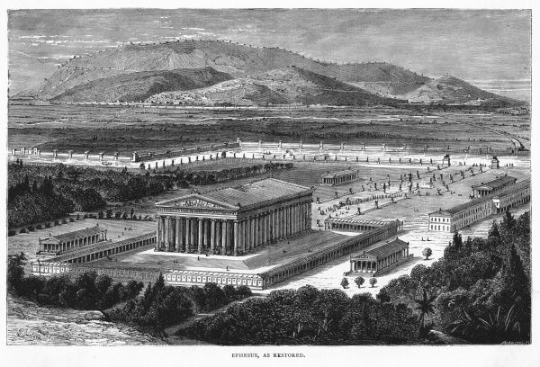 The temple of Diana, as it looked BCE - one of the Seven Wonders of the Ancient World