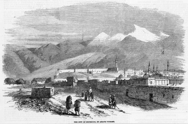 General view of the town at the time of the Crimea war