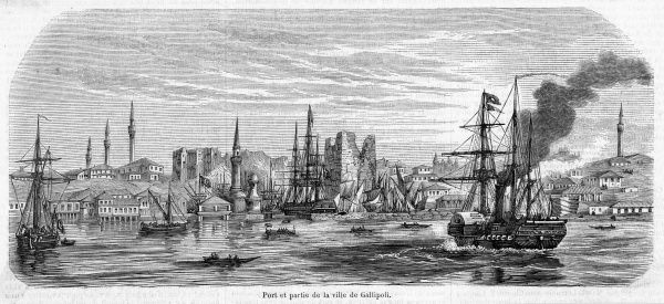 General view of the harbour at the time of the Crimea War