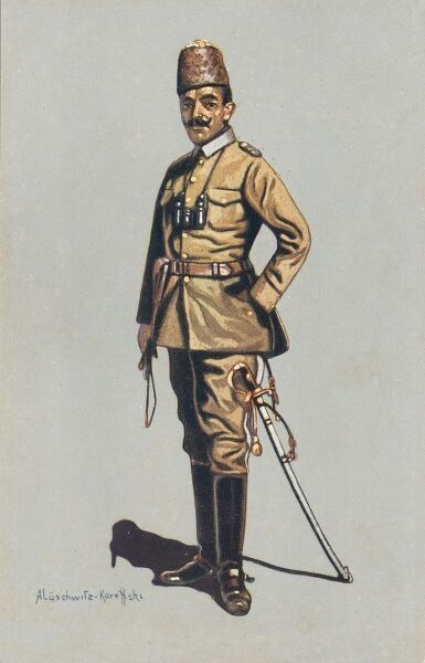 Turkish cavalry officer in field uniform, 1914 - 1915