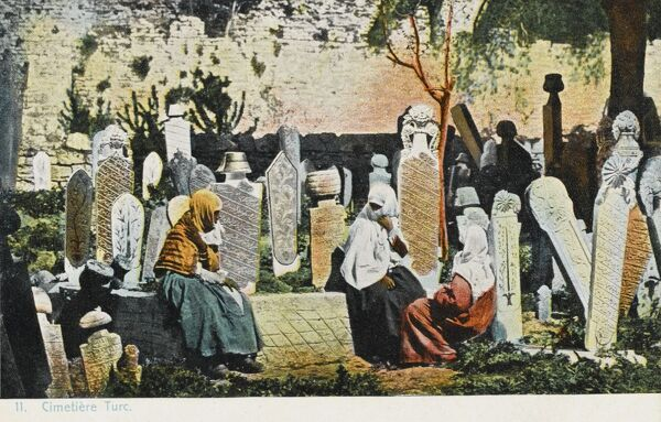 A Turkish Cemetery in Constantinople, Turkey