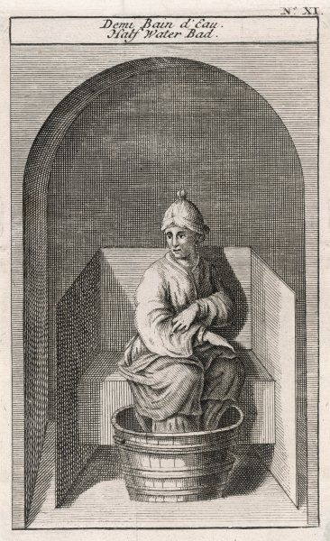 A man in a Turkish foot bath