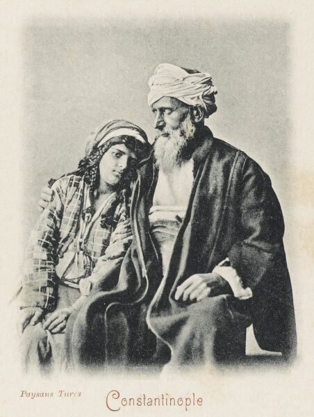 A Turkish peasant and his daughter