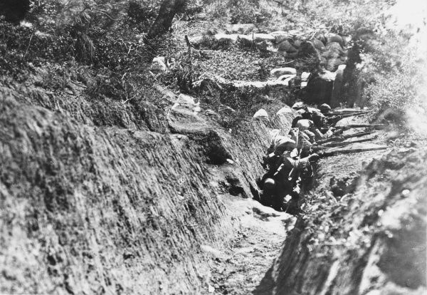Turkish fire trenches during World War I