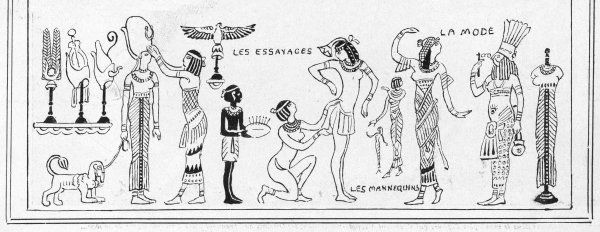 A comic look at the influence of all things Egyptian, especially on female fashion, sparked by the interest in Tutankhamen & his tomb