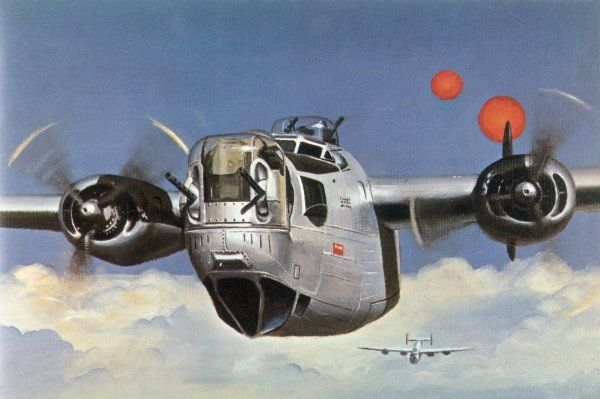 During World War Two, an American B-24 'Liberator' encounters 'foo fighters' during a daylight bombing raid on Germany ; at first they are thought to be secret weapons