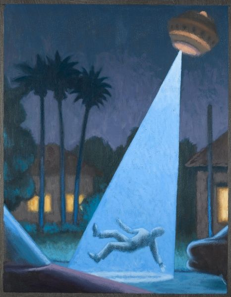 Ed Walters goes out of his house to get a better view of a UFO, is zapped by a blue beam and lifted off the ground
