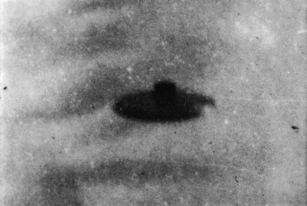 At Wall Township, New Jersey, 13-year old Robert J Salvo, while walking his dog, sees this UFO and luckily happens to have his camera with him, so snaps it