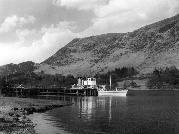 A scene on Ullswater, Lake District, Cumbria, England, showing one of the steamers which travel up and down its seven and a half mile length. Date: 1960s