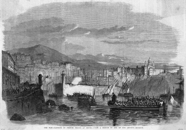 ITALIAN WAR OF UNIFICATION: During the war for Italian independence French troops land at Genoa