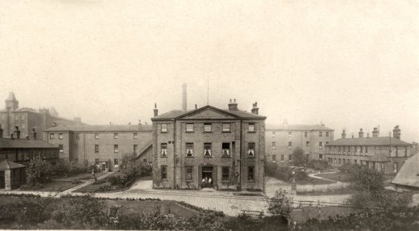 The Halifax Union workhouse on Gibbet Street, Halifax, West Yorkshire. After 1930, it became St John's Public Assistance Institution
