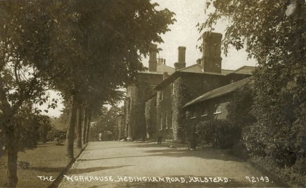 The entrance driveway of the Halstead Union workhouse, Essex. The workhouse was built in 1838 on North Street (now Hedingham Road) and was designed by William T Nash