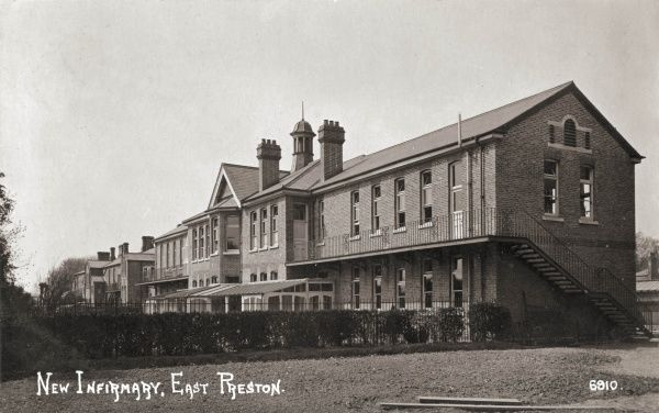 The infirmary at the East Preston Union workhouse, Sussex. The workhouse was rebuilt in 1872-3 with the new infirmary and nurses' home erected in 1906