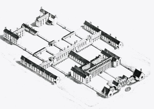 The Union workhouse at Limerick, Ireland, was designed by George Wilkinson and opened in 1841