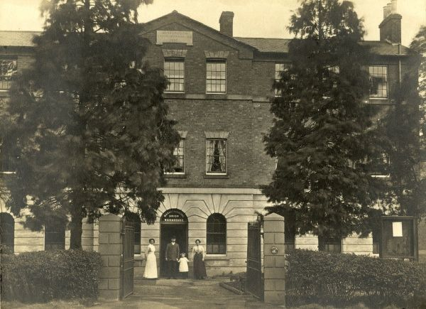 The Market Harborough Union workhouse. The inscription on the pediment reads 'HARBOROUGH UNION WORKHOUSE 1836&#39