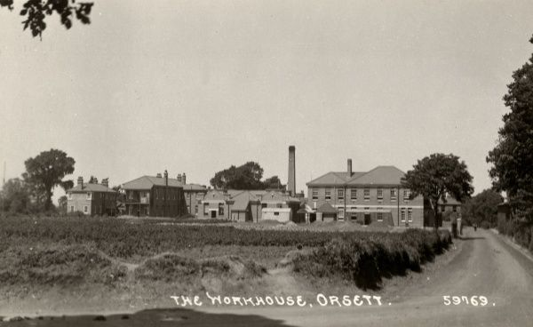 The Union workhouse at Orsett, Essex. The building, designed by Sampson Kempthorne, was erected in 1827. It later became Orsett Hospital