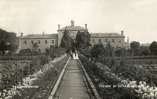 The Peterborough Union Workhouse, Cambridgeshire, erected in 1836 on Thorpe Road in Peterborough. It was designed by Bryan Browning. The site later became Peterborough District Hospital