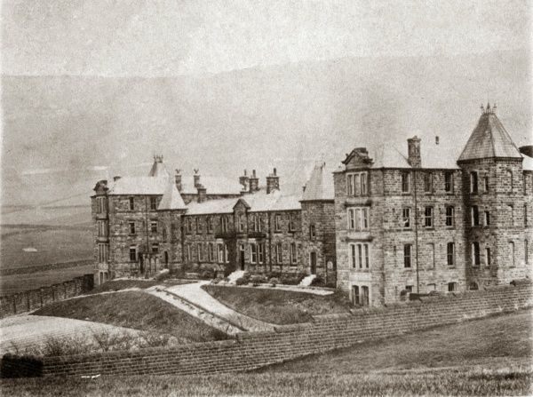 The Todmorden Union workhouse at Lee Bottom near Mankinholes, West Yorkshire, erected in 1877. The site later became Stansfield View Hospital