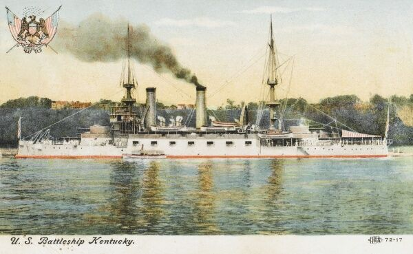The U.S. Battleship 'Kentucky'. Commissioned in 1900 - decommissioned in 1920