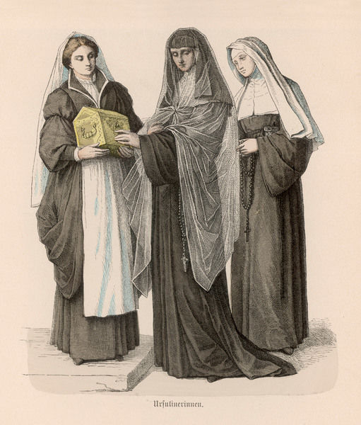URSULINE NUNS (NUNS OF THE ORDER OF SAINT URSULA OF COLOGNE)