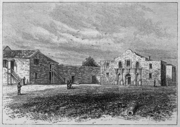 The exterior of the Alamo