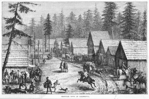 Cisco Station, California, a typical frontier town at the time when hopeful settlers were pouring into the West