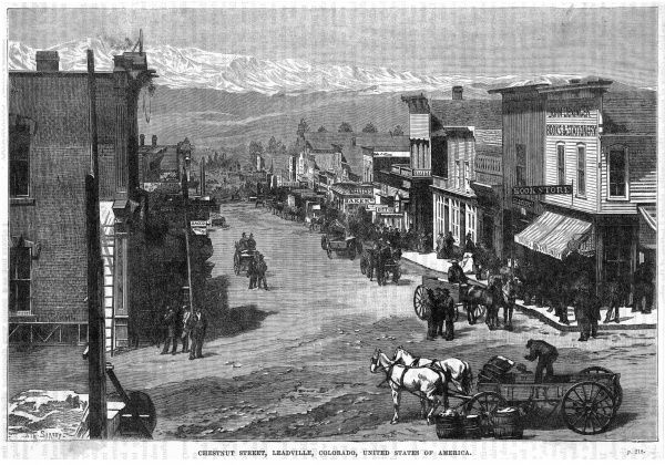 Chestnut Street, Leadville, a rising western township