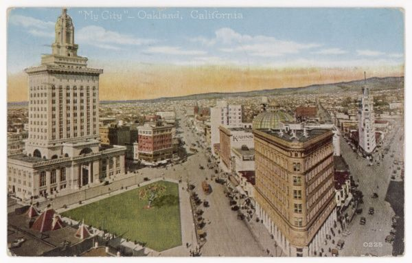A fine overview of the city of Oakland, California, USA