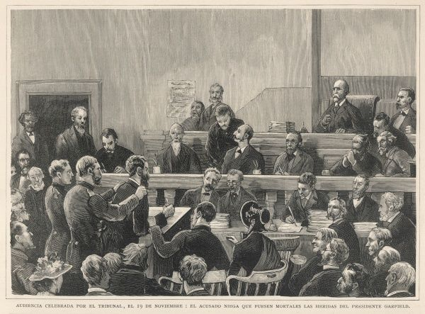 Guiteau, the assassin of President Garfield, on trial