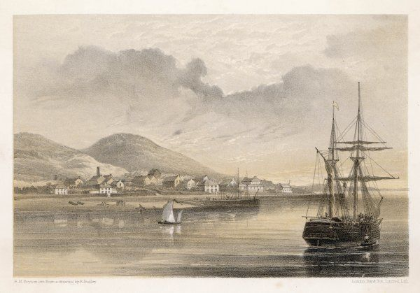 Valentia, western Ireland, at the time of the laying of the first cable