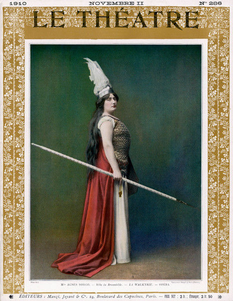 Die Walkure, (The Valkyrie) Agnes Borgo as Brunnhilde, at the Paris Opera