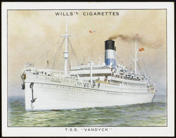Passenger liner of the Lamport and Holt company