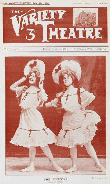 Music Hall theatre entertainers The Mintons - Daisy and Ethel to their friends