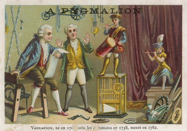 Vaucanson demonstrates his automata