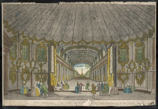 People visiting Vauxhall Gardens: the Gallery