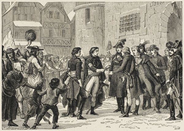 After Napoleon, first consul, offers them an amnesty, the royalist leaders submit to the government : their surrender brings the bitter Vendee struggle to an end