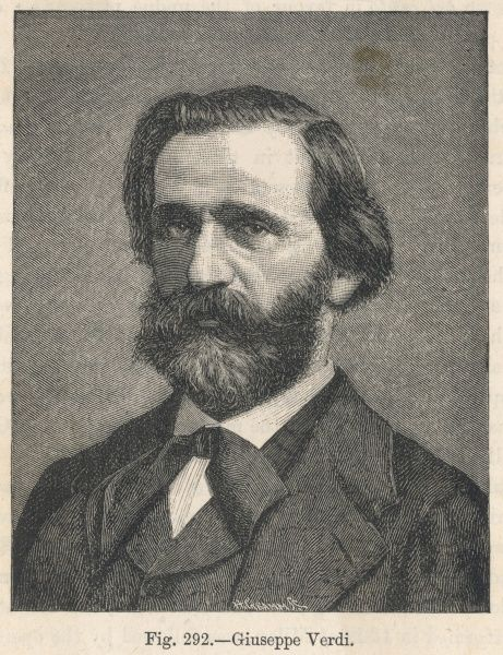 GIUSEPPE VERDI the Italian opera composer in middle age