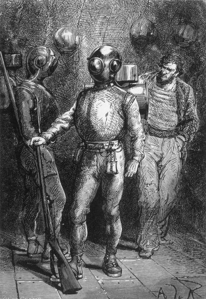 '20,000 LIEUES SOUS LES MERS' [20 000 leagues under the sea] The diving party Date: 1870