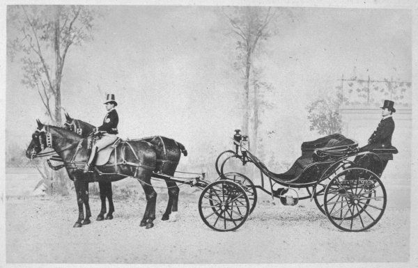 VICTORIA POSTE, a light two- horse two-seater carriage with room for a groom behind