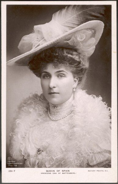 VICTORIA EUGENIA, Queen of Spain, Princess of Battenburg, wife of ALFONSO XIII