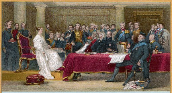 Victoria's first council as Queen of Britain