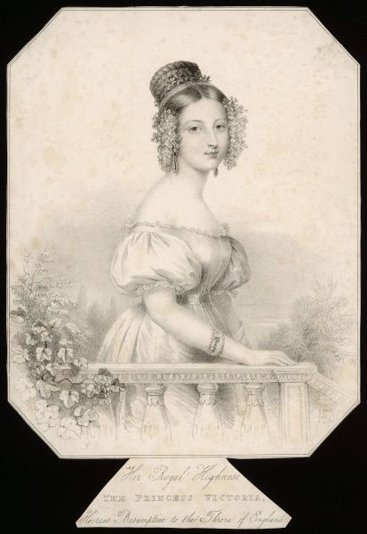 Her Royal Highness the PRINCESS VICTORIA Heiress Presumptive to the Throne of England - depicted shortly before her accession. Date: 1819 - 1901