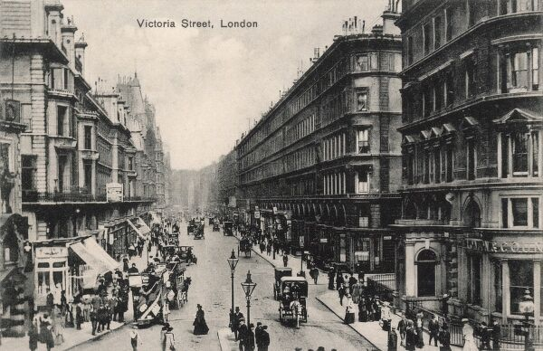 Victoria Street, Pimlico, London - looking toward Westminster from Victoria Station end