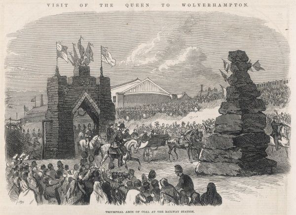 When Queen Victoria travelled to Wolverhampton to unveil a Statue of Prince Albert, the Royal party processed through a large coal arch, donated by the Earl of Dudley