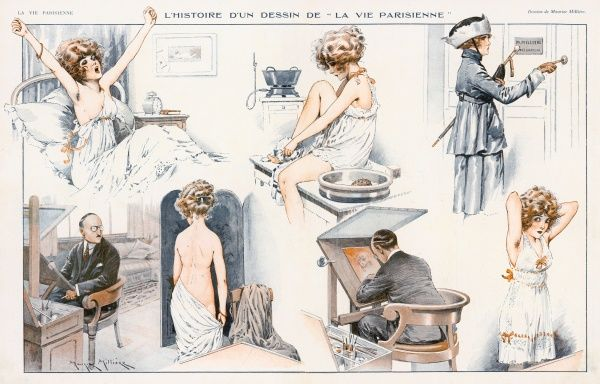 How a Vie Parisienne drawing is done