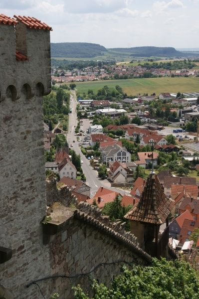 View of the town of Beilstein in the state of Baden-Wurttemberg, Germany, as seen from Langhans Castle.  2010