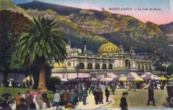 A view of the Caf頤e Paris at Monte Carlo Date: 1910-1920