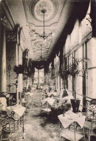 A postcard showing the Drawing Room Terrace at the Hotel Cecil, London Date: 1910s