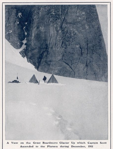 A view on the Great Beardmore Glacier up which Captain Scott ascended to the plateau during December 1911 on his ill-fated expedition to the South Pole